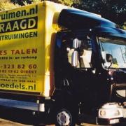 Vrachtauto van Kees Talen Woning ontruimen