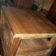 tweedehands teak houten bijzettafel met lade