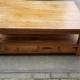 tweedehands teak houten salontafel met lades